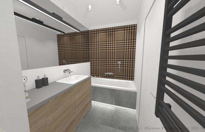 Łazienka z pepitką