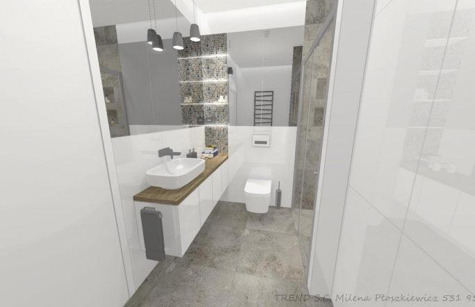 Łazienka z przestronną kabiną